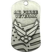 Shields of Strength Air Force Veteran Antique Finish Dog Tag Necklace, Isaiah 40:31