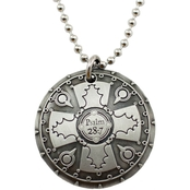 Shields of Strength Antique Finish Battle Shield Necklace, Psalm 28:7