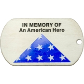 Shields of Strength In Memory of an American Hero Dog Tag Necklace, John 15:13