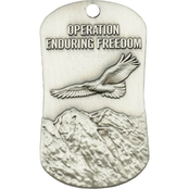 Shields of Strength Operation Enduring Freedom Antique Finish Necklace, Joshua 1:9