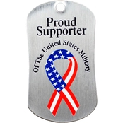Shields of Strength U. S. Military Supporter Stainless Steel Dog Tag Necklace