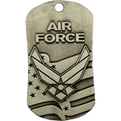 Shields of Strength Air Force Antique Finish Dog Tag Necklace, Isaiah 40:31