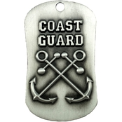 Shields of Strength Coast Guard Antique Finish Dog Tag Necklace, Hebrews 9:16