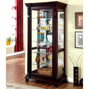 Furniture of America Tulare Curio Cabinet