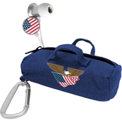 AudioSpice US Flag Scorch Earbuds with BudBag