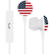 AudioSpice US Flag Ignition Earbuds + Mic