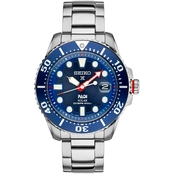 Seiko Men's Prospex Solar Diver PADI Edition Stainless Steel Bracelet Watch SNE435