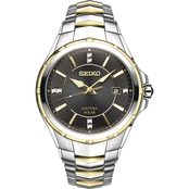 Seiko Men's Coutura Dress Two Tone Watch 42.5mm SNE444