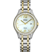 Seiko Women's Solar Stainless Steel Bracelet Watch 29mm SUT31