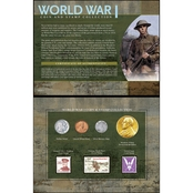American Coin Treasures WWI Coin and Stamp Set
