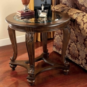 Signature Design by Ashley Traditional Norcastle Round End Table
