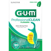GUM Professional Clean Extra Strong Mint Flossers 90 pk.