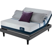 Serta iComfort Blue 300 Lux Firm Mattress and Adjustable Foundation Set