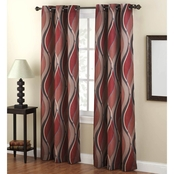 No. 918 Intersect Grommet Woven Print 48 X 84 Window Panel