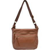 Bueno of California Pearl Washed Crossbody Shoulder Handbag