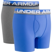 Under Armour Boys 2 Pk. Solid Performance Boxer Briefs