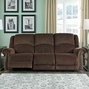 Ashley Goodlow Power Reclining Sofa with Power Headrest