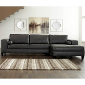 Signature Design by Ashley Nokomis LAF Sofa Sectional with RAF Corner Chaise 2 Pc.