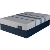 Serta iComfort Blue Max 3000 Memory Foam Plush Low Profile Mattress Set