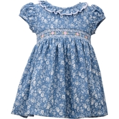 Bonnie Jean Infant Girls Smocked Toile Dress