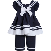 Bonnie Jean Toddler Girls Traditional Nautical Set