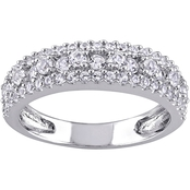 Sofia B. Sterling Silver 1 1/7 CTW Created White Sapphire Anniversary Band