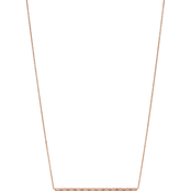 Fossil Diamond-Etched Bar Necklace