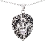 Focus For Men Lion Head Pendant With Chain