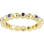 Sofia B. 14K Yellow Gold Sapphire Scalloped Eternity Ring, Size 7