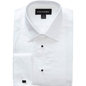 Commercial Men's White Formal Tuxedo Pleated Dress Shirt