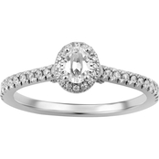 14KW 3/4CTW Oval Center Bridal Set