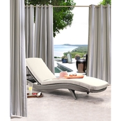 Commonwealth Home Fashions Gazebo Stripe Outdoor Decor Grommet Top Drapery Panel