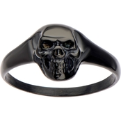 Women's Black Skull Ring, Size 6