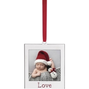 Lenox Silvertone Love Ornament