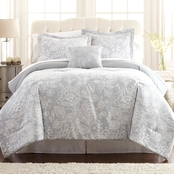 Pacific Coast Textiles Olivia 8 Pc. Printed Reversible Complete Bedding Set