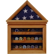 DomEx Hardwoods Flag Case and Coin Display Combo
