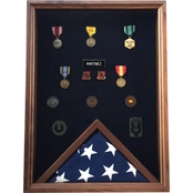 DomEx Hardwoods Shadow Box and Flag Case Combo