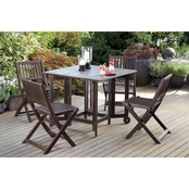Northbeam Eucalyptus Folding Chairs 4 Pc. Set