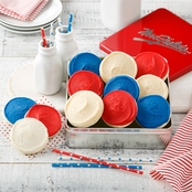 Mrs. Fields Red White and Blue Tin
