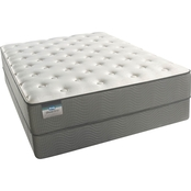 Simmons BeautySleep Solarsoft Plush Low Profile Mattress Set