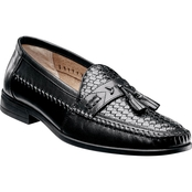Nunn Bush Strafford Woven Moc Toe Tassel Slip On Dress Shoes