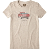 Life Is Good Flower Truck Crusher Tee