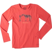 Life is Good Horse Pet Crusher Tee