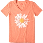Life is Good Cool Tee, Watercolor Daisy