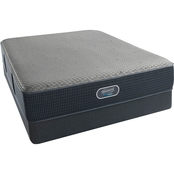 Beautyrest Silver Hybrid Santa Cruz Luxury Firm Low Profile Mattress Set
