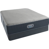 Beautyrest Silver Hybrid Sardinia Plush Low Profile Mattress Set