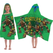 Jay Franco and Sons Teenage Mutant Ninja Turtles Cross Hatching Hooded Towel