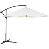 Pure Garden 10 ft. Offset Hanging Aluminum Patio Umbrella