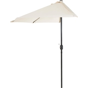 Pure Garden 9 ft. Half Round Aluminum Patio Umbrella
