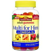 Nature Made Multivitamin and Omega Gummies for Him 80 ct.
